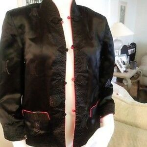 Reversible Oriental Red/Black Floral Jacket